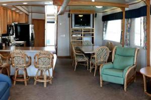 The 70' Titanium houseboat interior at Cottonwood Cove Resort.