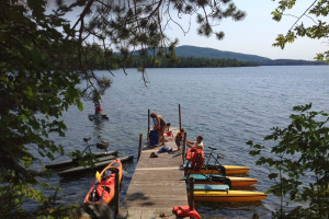 Water activities at Rockywold-Deephaven Camps.