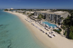 Exterior view of Grand Cayman Marriott Beach Resort.
