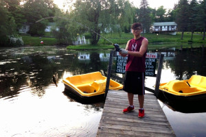 Fishing at Chestnut Grove Resort.