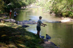 Fishing at Rivers Ridge Lodge