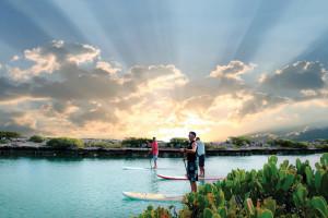 Paddle boarding at Hawks Cay Resort.