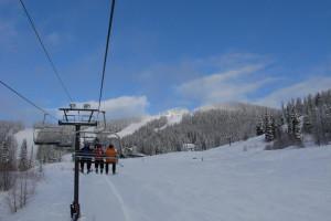 Skiing at Kandahar Lodge.