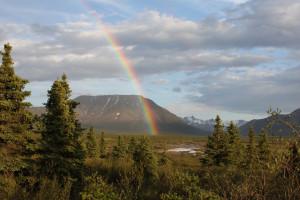 Rainbow at Kenai Riverside Lodge.