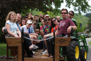 Hayride at Cedar Valley Resort.