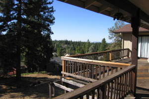 Balcony view at Forest Meadows Vacation Rental.