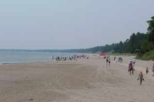 The beach at Edgewater Resort.