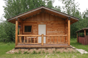 Cabin exterior at Siberian Outfitters.