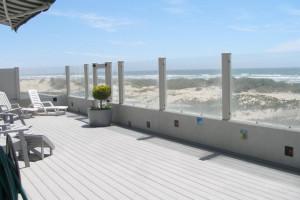 Rental deck at Coastal Vacation Rentals.