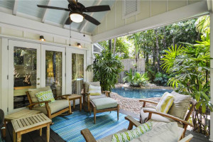 Rental patio at At Home in Key West, LLC.
