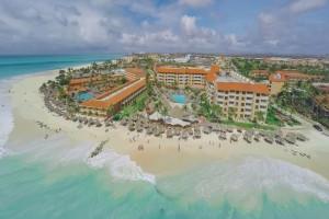 Aerial view of Casa del Mar Beach Resort.