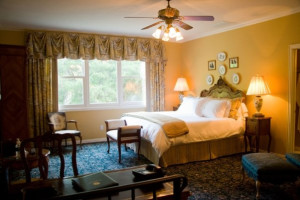 Guest bedroom at The Sanford House Inn & Spa.