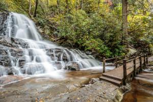 Waterfall near Auntie Belham's Cabin Rentals.