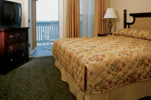 Guest bedroom at The Lighthouse Inn at Aransas Bay.