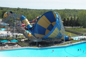 Waterpark view at Darien Lake Resort.