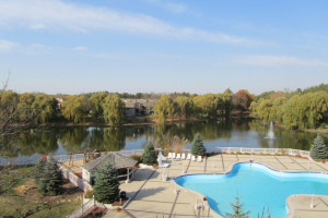 View of pool and Lake from Olympia Resort.