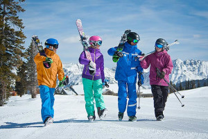 Group of skiers at Manor Vail Lodge.