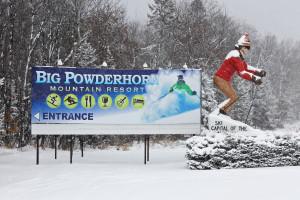 Skiing at Big Powderhorn Lodging.