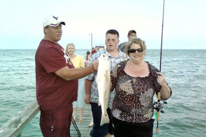 Fishing at Hunt's Castle Hotel.