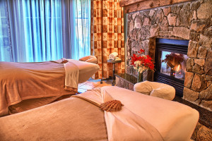 Spa massage tables at Poets Cove Resort & Spa.