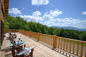 Vacation rental deck view at Franconia Notch Vacations Rental & Realty.