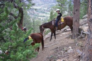 Horseback riding at Ram's Horn Village Resort.