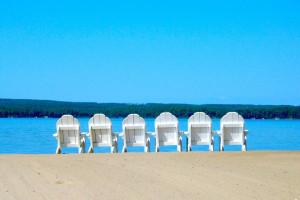 Beach chairs at Sugar Lake Lodge.
