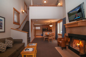 Condo interior at Hidden Ridge Resort.