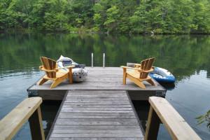 Dock at Smoky Mountain Getaways.