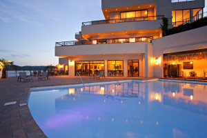 Outdoor pool at D' Monaco Luxury Resort.