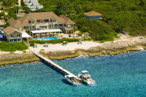 Aerial view of Cobalt Coast Resort.