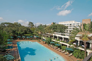 Outdoor pool at Nairobi Serena Hotel.