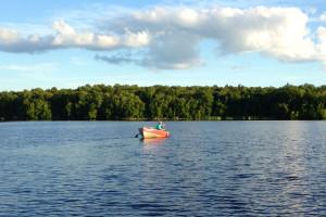 Lake fishing at Spooky Bay Resort.