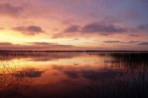 Sunrise at Twin Lake Landing.