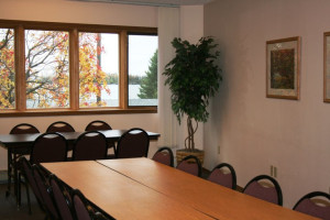 Meeting room at Aspen Lodge.