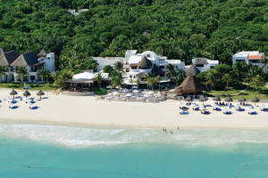 Aerial view of Maroma Resort & Spa.