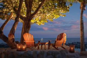 Lawn chairs at Cheeca Lodge & Spa.