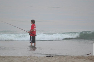 Fishing in the ocean at Seabonay Motel Ocean City.