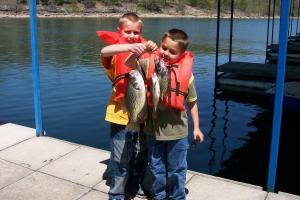 Fishing at Alpine Lodge Resort.
