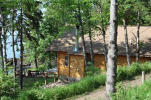 Cabin exterior at Solbakken Resort.
