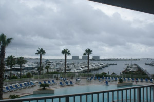 Balcony view at Gulf Beach Rentals.