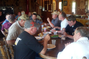 Dining at Viking Valley Hunt Club.