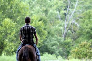 Horseback riding near Murphy's Resort.