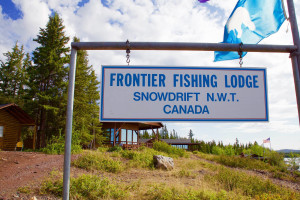 Exterior view of Frontier Fishing Lodge.
