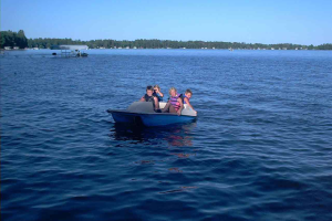 Boating at Radtke's Sabinois Point Resort.