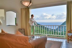 Guest room at Queen's Garden Resort.