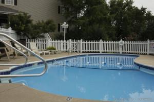 Outdoor pool at Branson Gazebo Inn.