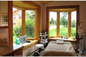 The spa at The Sassy Moose Inn.