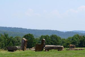 Rock garden at Stone Wind Retreat.