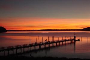 Sunset at West Beach Resort.